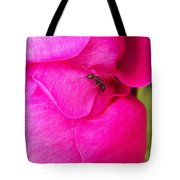 Ant On Pink Petals Tote Bag