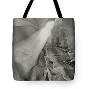 Antelope Canyon Light Black And White Tote Bag