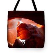 Antelope Canyon Sunbeams Tote Bag