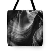 Antelope Canyon Waves Black And White Tote Bag