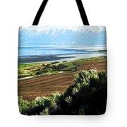 Antelope Island Wasatch Mountains Utah Tote Bag