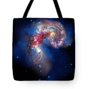 Antennae Galaxies Collide 2 Tote Bag