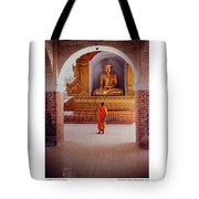 Anthony Howarth Collection - Gold - Saffron And Gold - Burma Tote Bag