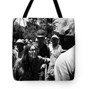 Anti-viet Nam War Protestor Confronting Smoking Marine Pro-war March Tucson Arizona 1970  Tote Bag