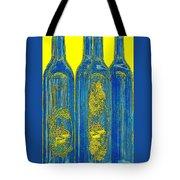 Antibes Blue Bottles Tote Bag by Ben and Raisa Gertsberg