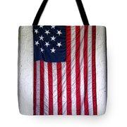 Antique American Flag Tote Bag