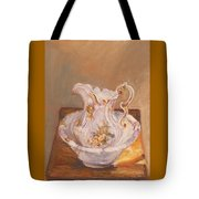 Antique Pitcher And Bowl Tote Bag