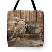 Antique Bicycle In The Town Of Daxu Tote Bag
