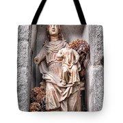 Antique Blessed Virgin Statue Tote Bag