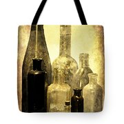 Antique Bottles From The Past Tote Bag