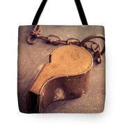 Antique Brass Military Whistle Tote Bag