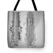 Antique Cannon Patent 1897 Tote Bag