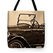 Antique Car In Sepia 1 Tote Bag