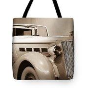 Antique Car In Sepia 2 Tote Bag