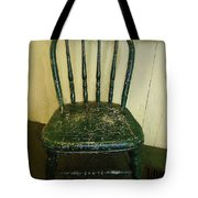 Antique Child's Chair With Quilt Tote Bag