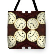 Antique Clock Abstract . Horizontal Tote Bag by Renee Trenholm