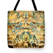 Antique Cutout Of Animals  Tote Bag