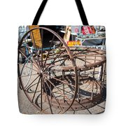 Fayetteville Texas Rings And Wheels Tote Bag