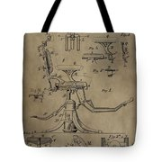 Antique Dental Chair Patent Tote Bag