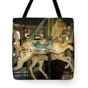 Antique Dentzel Menagerie Carousel Cat Tote Bag by Rose Santuci-Sofranko