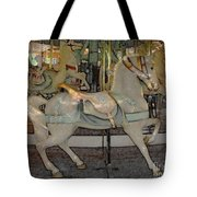 Antique Dentzel Menagerie Carousel Horse Colored Pencil Effect Tote Bag
