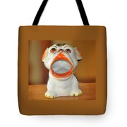 Antique Dog Ashtray Tote Bag