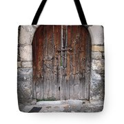 Antique Door Wood Tote Bag