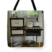 Antique Estate Stove With Cookware Tote Bag