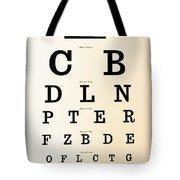 Antique Eye Chart Tote Bag