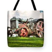 Antique Fordson Tractor - Americana Tote Bag by Gary Heller