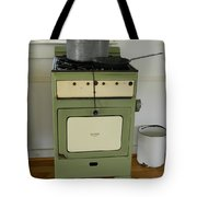 Antique Green Stove And Pressure Cooker Tote Bag
