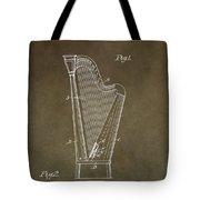 Antique Harp Patent Tote Bag