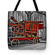Antique Hay Baler Selective Color Tote Bag
