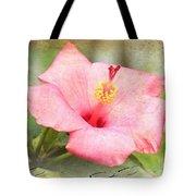 Antique Hibiscus Tote Bag