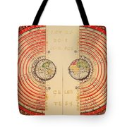 Antique Illustrative Map Of The Ptolemaic Geocentric Model Of The Universe 1568 Tote Bag
