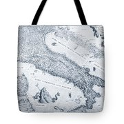 Antique Italy Map 1573 Tote Bag