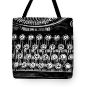 Antique Keyboard - Bw Tote Bag