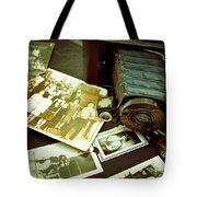 Antique Kodak Camera And Vintage Photographs Tote Bag