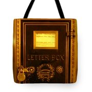 Antique Letter Box At The Brown Palace Hotel Tote Bag