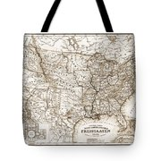 Antique Map 1853 United States Of America Tote Bag