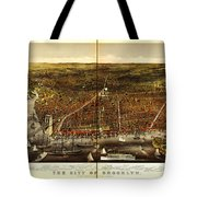 Antique Map Of Brooklyn Tote Bag