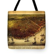 Antique Map Of New Orleans Tote Bag