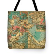 Antique Map Of The Baltic And North Sea Ports  Tote Bag