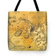 Antique Map Of The Battles Of Lexington And Concord 1775 Tote Bag