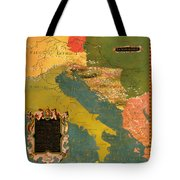 Antique Map Of The Dalmatian Shore 1578 Tote Bag
