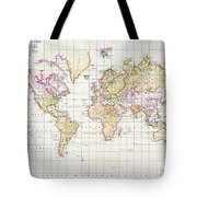 Antique Map Of The World Tote Bag by James The Elder Wyld