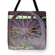 Antique Metal Wheel Tote Bag
