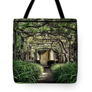 Antique Pergola Arbor Tote Bag
