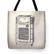 Antique Phonograph Cabinet Patent Tote Bag