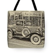 Antique Pickup Truck Tote Bag